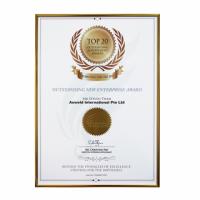 Auweld Top 20 Outstanding New Enterprise Certificate